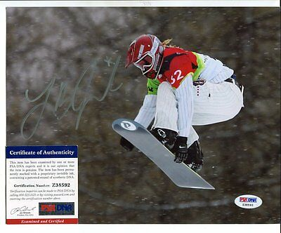 snowboarding LINDSEY JACOBELLIS autograph HAND SIGNED with PSA DNA COA  SB3058