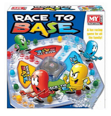 M.y Race To Base Pop A Dice Frustration Great Family Fun Kids Board Game New