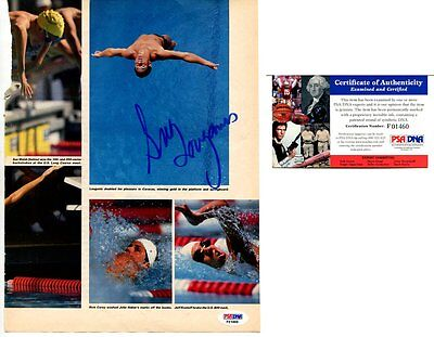 OLYMPIC swimmimng GREG LOUGANIS autograph HAND SIGNED PSA DNA COA 2490B