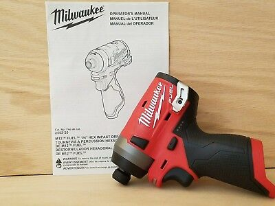 Milwaukee 2553-20 M12 FUEL 12V Brushless 1/4 Hex Cordless Impact Driver GEN 2