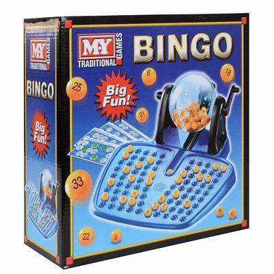 Bingo Lotto Traditional Family Game Cards 48 Chips 90 100 Covering Bingo Balls