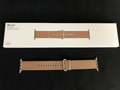 Original Apple Watch 42mm Woven Nylon Toasted Coffee / Caramel OEM Genuine
