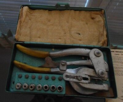 Vintage Roper Whitney USA No. 5 Jr. Punch Set In The Metal Case USA Made