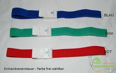 stauband Tourniquet Single Hand Colour choice green red blue