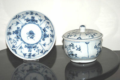 PORCELAIN 18th THURINGE WALLENDORF 18è IMMORTELLE SAXE GERMAN SUGAR POT SAUCER