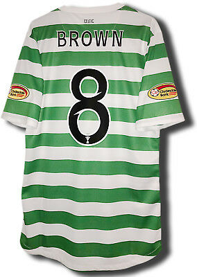 *BNWT* 12/13 Celtic 125 Anniversary Player Issue Shirt #8 Brown Size M