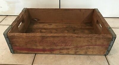 Rare Vintage Coca-Cola Rustic Red Wooden Crate Carrier Case Coke Collectible