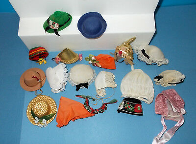 "18 Vintage 8"" Madame Alexander Doll  Hats, Head Coverings,  ~ Fit Ginny, Muffie"