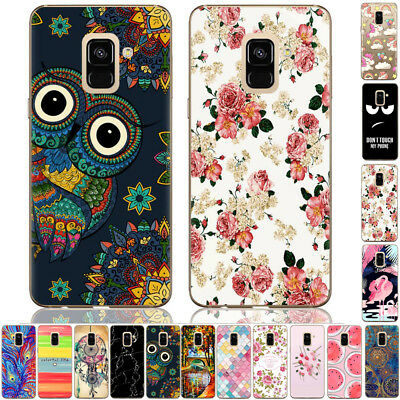 For Samsung Galaxy J7 J3 J4 A6 Painted Shockproof Soft TPU Silicone Case Cover