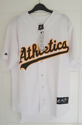 MAJESTIC OAKLAND ATHLETICS MLB Official Baseball Jersey Shirt MADE IN USA Mens M