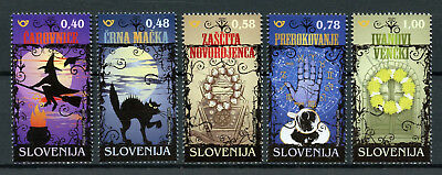Slovenia 2018 MNH Superstition & Magic Witchcraft Black Cats 5v Set Stamps