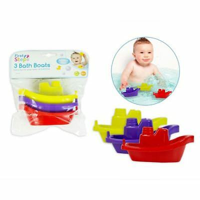 First Steps Bathtime Fun Bath Boats Toy (Pack Of 3) 3m+