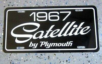 1967 Plymouth Satellite license plate car tag 67 hardtop convertible 383