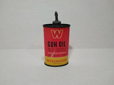 Old Winchester Gun Oil Can,Earlylabel ,1920s 30s ? oil can, Antique oil tin