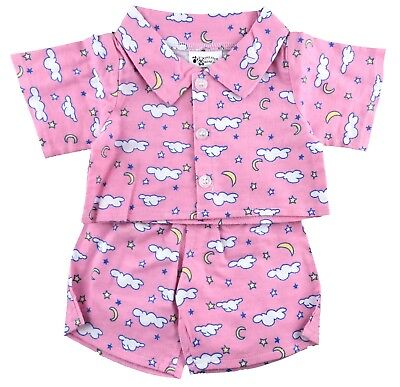 """Pink Pajamas Outfit Fits Build A Bear Workshop 12"""" - 16"""" Teddy Bears Clothes"""