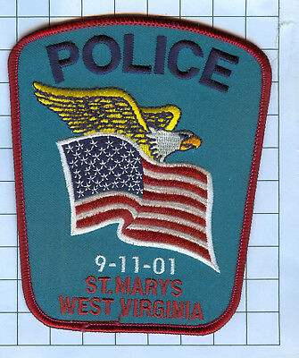 Police Patch  - West Virginia - 9-11-01 St. Marys WV