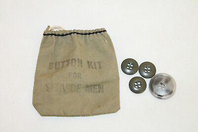 Wwii Military Button Kit For Service Men Vintage