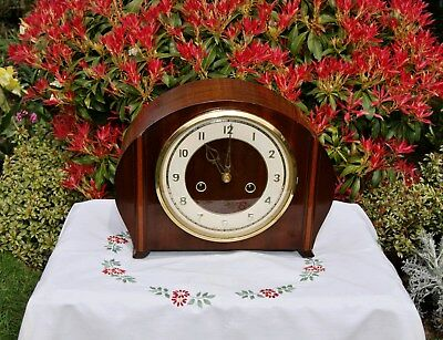 Smiths Enfield Antique Art Deco Striking Mantel Clock, 1957. Very Rare!