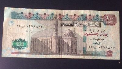 Egypt Paper Money 2016 , 100 Pounds F Used