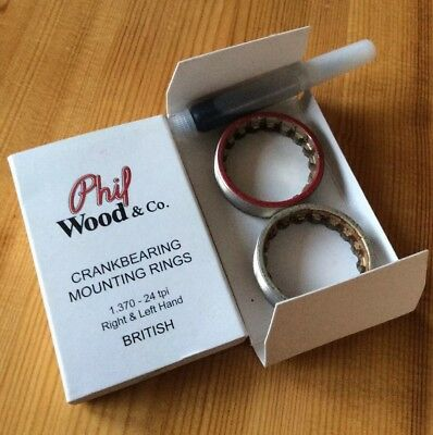 Phil Wood Bottom Bracket Cups 1.37 X 24tpi Alloy