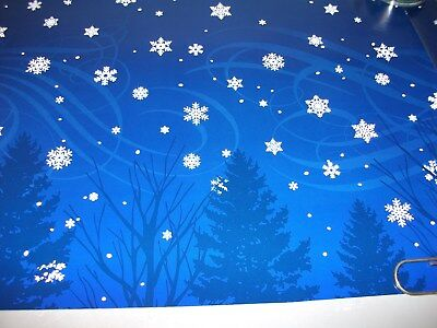 DEPT 56 BLUE SKIES BACKDROP WITH SNOW FLAKES, Heritage, Dickens Villages