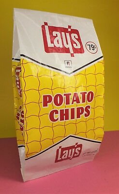 Vintage 1967 LAYS POTATO CHIP BAG Full NOS Package Mid Century Frito Lay SNACK