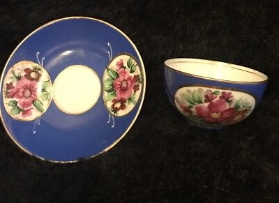 Gardner 19th Century Russia Porcelain Cup & Saucer Amazing!