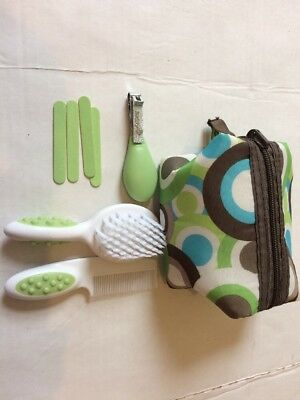 Baby Manicure Set And Hair Brush ,Scissors, Nail Clipper & Files