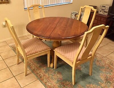 Vintage Bernhardt Chairs Virginia House Solid Wood Dining Room Table Furniture 329 99 Picclick