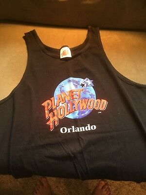 Vintage Planet Hollywood - CHICAGO Men's XL black tank top shirt - Never Worn!