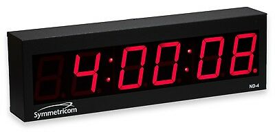 Symmetricom ND-4 NTP Internet Synchronized Red LED Wall Clock Ethernet Atomic
