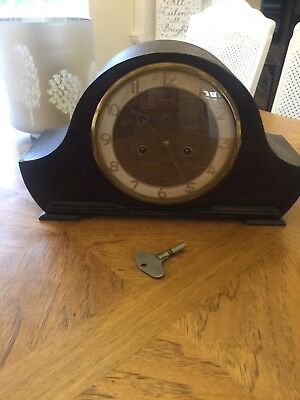 Smith Enfield Mantel Clock. Oak Cased.