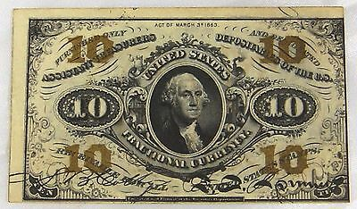 US Fractional Currency - 10 Cents Third Issue FR 1256