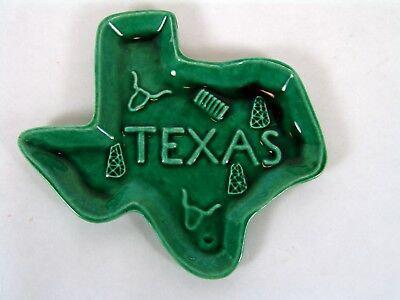 Vintage Texas State Shape Spoon Rest Longhorn Oil Wells
