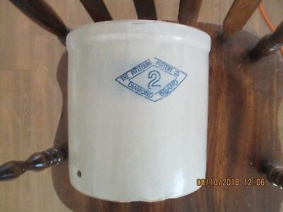 The Pittsburg Pottery Co Crock Blue Diamond # 2
