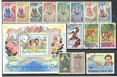 Upper Volta - Lot of mint and used Stamps & Souvenir Sheet