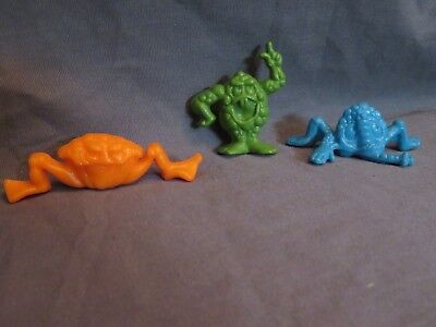 New Vintage Lot Ralston Co FREAKIES CEREAL Figure Snorkeldorf Grumble Boss Moss