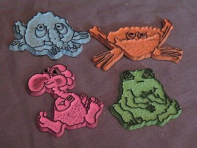 New Lot Ralston 1970s FREAKIES CEREAL Magnets Snorkeldorf Grumble Goody Cowruble
