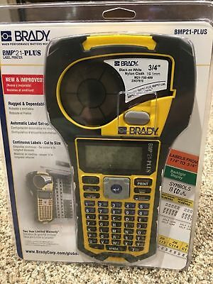 BRAND NEW - Brady BMP21-PLUS Handheld Label Multi Line Printer w/Rubber Bumpers