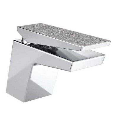 Bristan Metallix Sail Basin Mixer Tap With Clicker Waste- Silver Sparkle