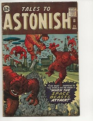 Tales To Astonish #29 Vg Aliens Jack Kirby And Dick Ayers Art Marvel Comics