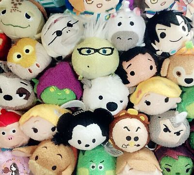 160 Styles Disney TSUM TSUM Woody Jack WALL-E Tinker Bell Plush Toys With Chain