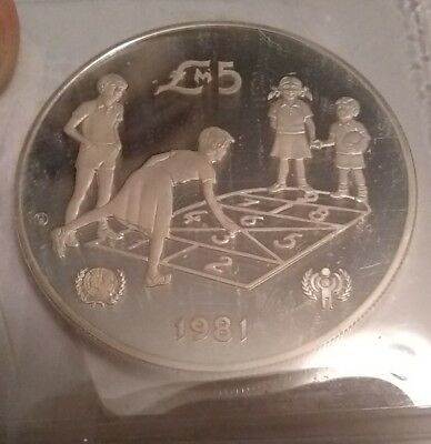 Malta 5 Pounds Silver Proof Crown 1981 Year Of The Child