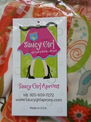 Saucy Girl Aprons - Dancing Bird Adult Half Apron - New in Package