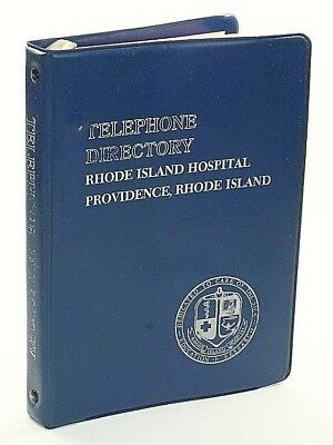 1986 Rhode Island Hospital Telephone Directory in 3-Ring Binder Communication