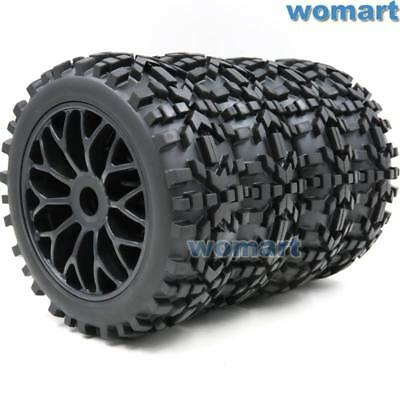 US Shipping 4pcs 1/8 RC Off Road Buggy Badlands Tire Hex 17mm Wheels For 1:8 Car