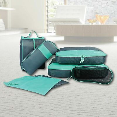 7 PCS Packing Cube Pouch Suitcase Clothes Storage Bags Travel Luggage Organizer