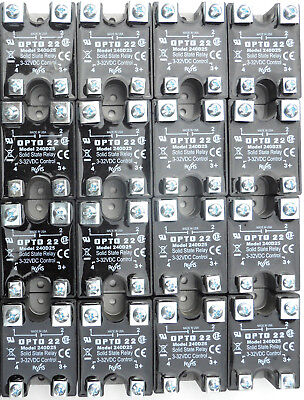 Opto22 Model 240D25 Solid State Relay 240VAC@25A Load 3-32VDC Control Voltage