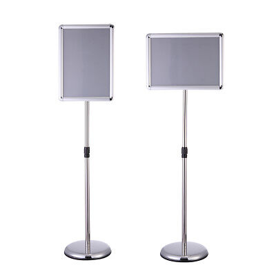 "A3 Display Adjustable Pedestal Sign Holder Stand Post Frame for 17""x12"" Poster"