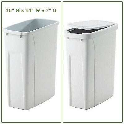 20 Qt Replacement Pull Out Trash Can White Plastic